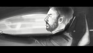 Marcus Niehaves fährt Auto