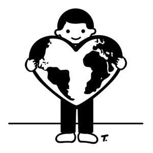 Junge mit dem Weltherz